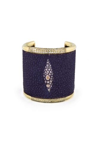 Kara Ross Purple Stingray Cuff_1 lo-res